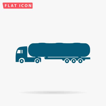 crisper: Tank truck Icon Vector. Flat simple Blue pictogram on white background. Illustration symbol with shadow Illustration