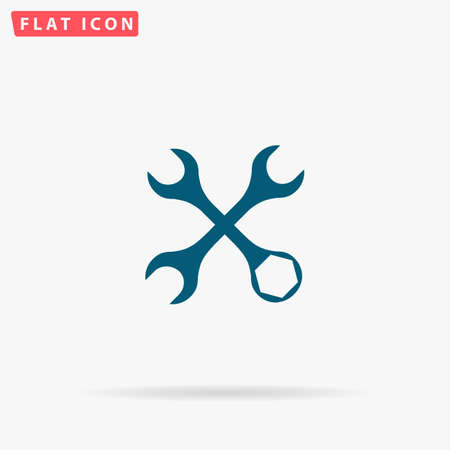 tweak: Repair Icon Vector. Flat simple Blue pictogram on white background. Illustration symbol with shadow