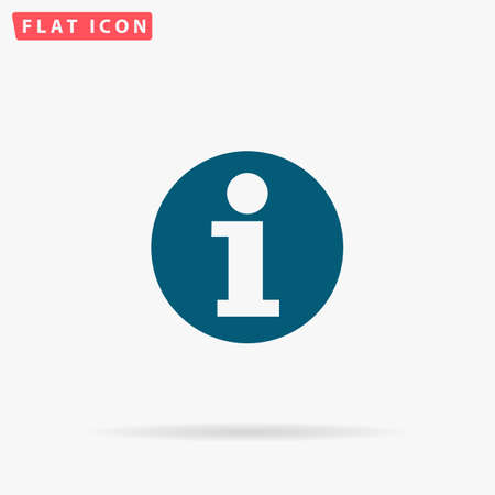 Info Icon Vector. Flat simple Blue pictogram on white background. Illustration symbol with shadow Illustration
