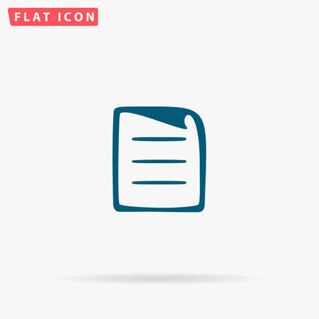 folded paper: List Icon Vector. Flat simple Blue pictogram on white background. Illustration symbol with shadow Illustration