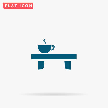 tinted: Coffee Icon Vector. Flat simple Blue pictogram on white background. Illustration symbol with shadow Illustration
