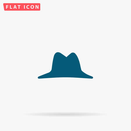 pent: Hat Icon Vector. Flat simple Blue pictogram on white background. Illustration symbol with shadow Illustration
