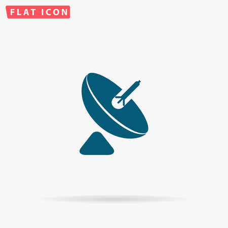 Antenna Icon Vector. Flat simple Blue pictogram on white background. Illustration symbol with shadow Illustration