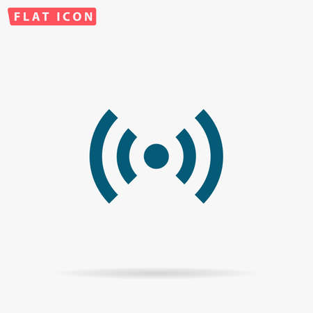 WiFi Icon Vector. Flat simple Blue pictogram on white background. Illustration symbol with shadow Illustration