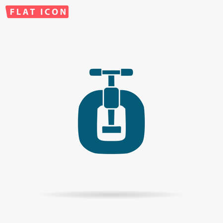 vices: Vices Icon Vector. Flat simple Blue pictogram on white background. Illustration symbol with shadow