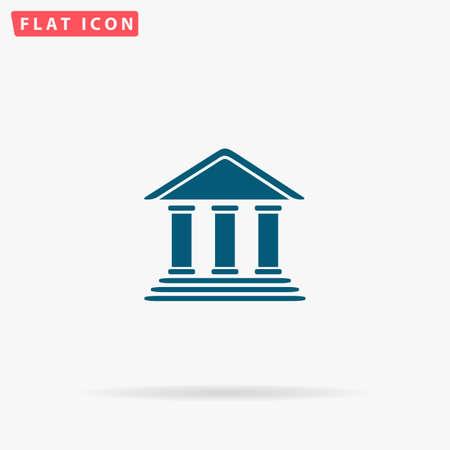 tribunal: Tribunal Icon Vector. Flat simple Blue pictogram on white background. Illustration symbol with shadow
