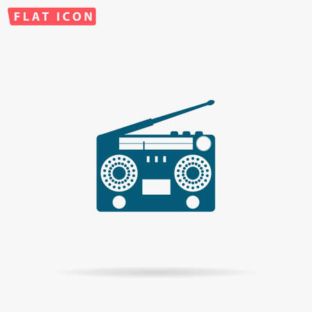 reverse: Turntable Icon Vector. Flat simple Blue pictogram on white background. Illustration symbol with shadow Illustration