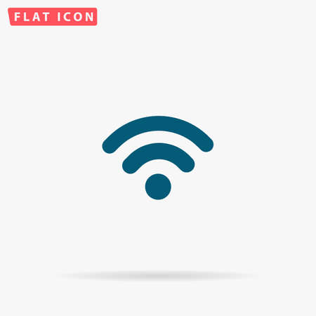 Podcast Icon Vector. Flat simple Blue pictogram on white background. Illustration symbol with shadow