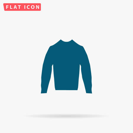 sleeved: Blouse Icon Vector. Flat simple Blue pictogram on white background. Illustration symbol with shadow Illustration