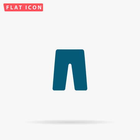 Pants Icon Vector. Flat simple Blue pictogram on white background. Illustration symbol with shadow