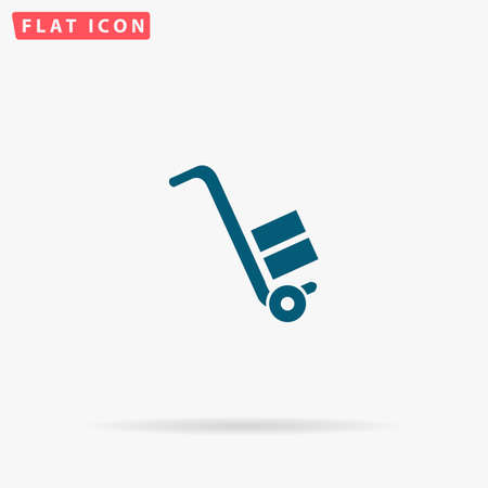 Manual loader Icon Vector. Flat simple Blue pictogram on white background. Illustration symbol with shadow