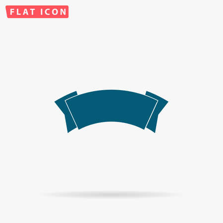 Label Icon Vector. Flat simple Blue pictogram on white background. Illustration symbol with shadow