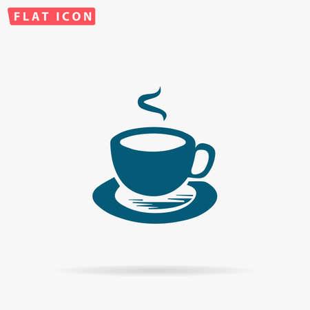 oregano: Tea Icon Vector. Flat simple Blue pictogram on white background. Illustration symbol with shadow Illustration