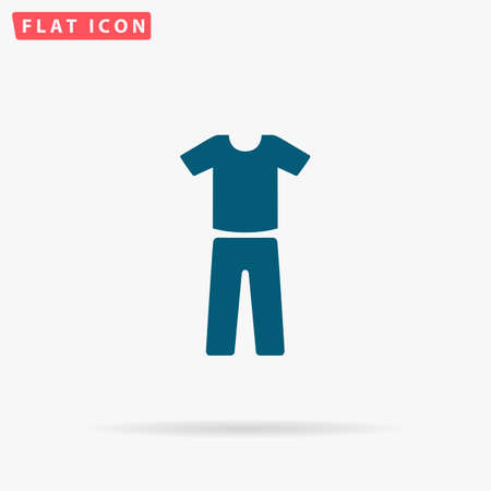 Clothes Icon Vector. Flat simple Blue pictogram on white background. Illustration symbol with shadow Illustration