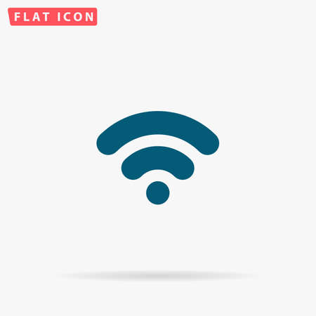 Network Icon Vector. Flat simple Blue pictogram on white background. Illustration symbol with shadow Illustration