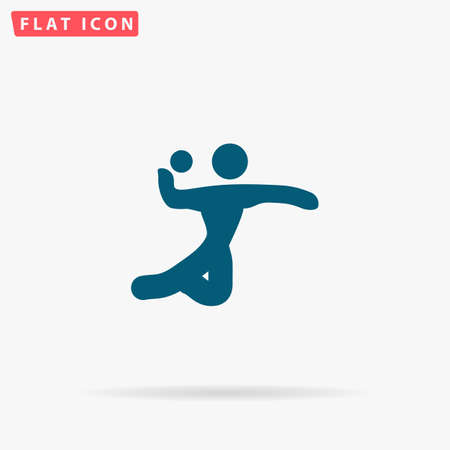 Volleyball Icon Vector. Flat simple Blue pictogram on white background. Illustration symbol with shadow Illustration