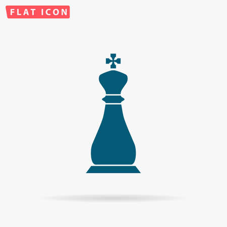 Chess Icon Vector. Flat simple Blue pictogram on white background. Illustration symbol with shadow