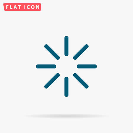 Buffering Icon Vector. Flat simple Blue pictogram on white background. Illustration symbol with shadow Illustration
