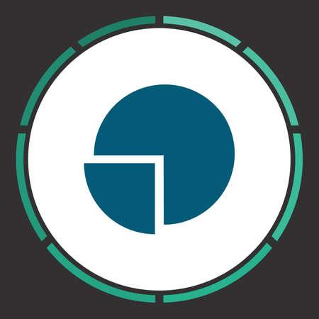 Diagram Icon Vector. Flat eenvoudige blauwe pictogram in een cirkel. illustratie symbool