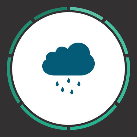 drench: Rain Icon Vector. Flat simple Blue pictogram in a circle. Illustration symbol Vectores