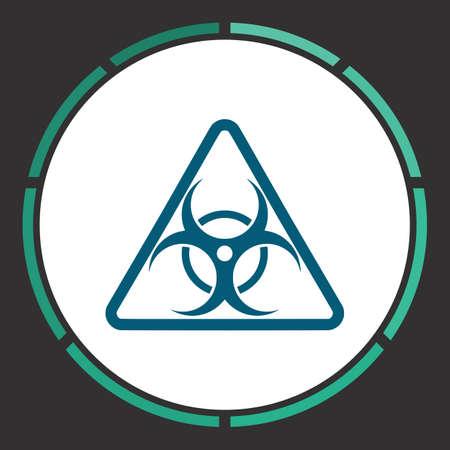 Bio hazard Icon Vector. Flat simple Blue pictogram in a circle. Illustration symbol