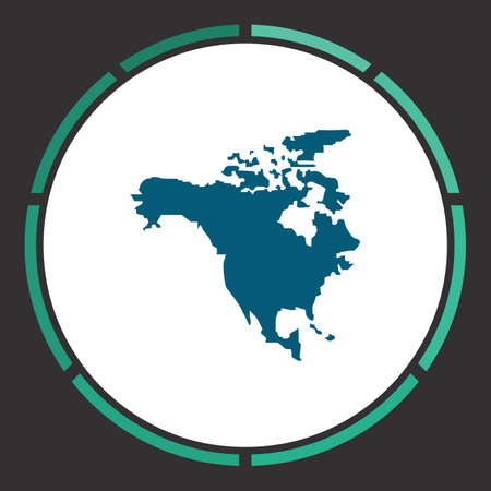 bandera panama: North America Icon Vector. Flat simple Blue pictogram in a circle. Illustration symbol Vectores