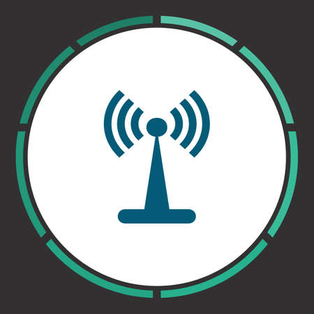 Wi-Fi Icon Vector. Flat simple Blue pictogram in a circle. Illustration symbol Illustration