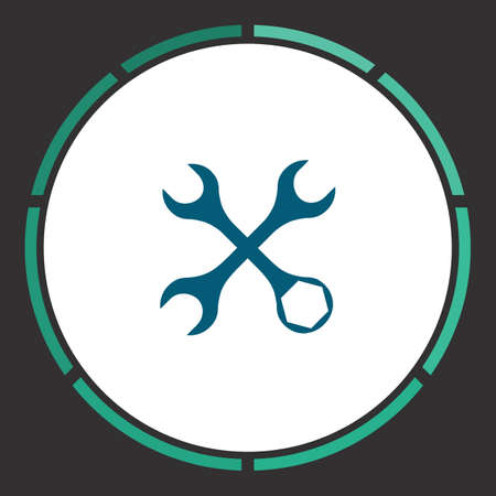 Repair Icon Vector. Flat simple Blue pictogram in a circle. Illustration symbol