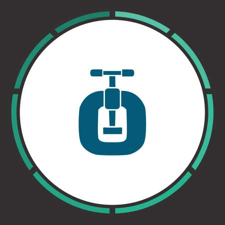 vices: Vices Icon Vector. Flat simple Blue pictogram in a circle. Illustration symbol