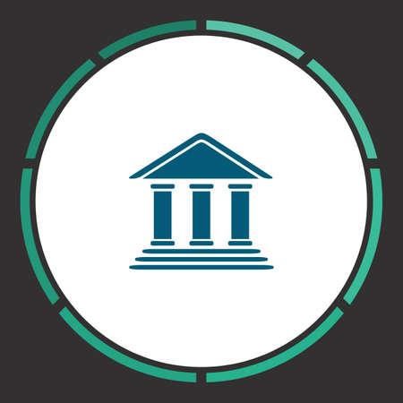 tribunal: Tribunal Icon Vector. Flat simple Blue pictogram in a circle. Illustration symbol