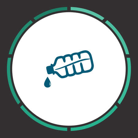 Water Icon Vector. Flat simple Blue pictogram in a circle. Illustration symbol