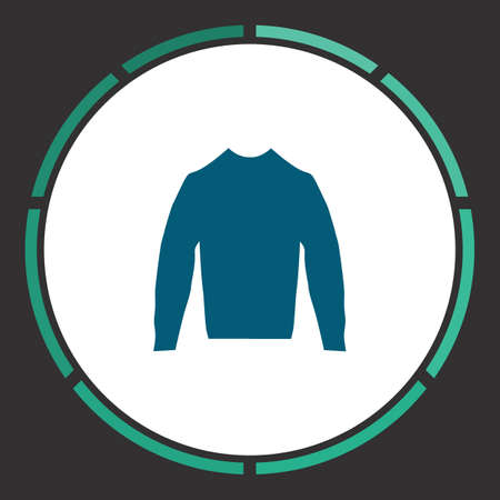 Blouse Icon Vector. Flat simple Blue pictogram in a circle. Illustration symbol Illustration