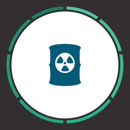 biohazard: Toxic container Icon Vector. Flat simple Blue pictogram in a circle. Illustration symbol