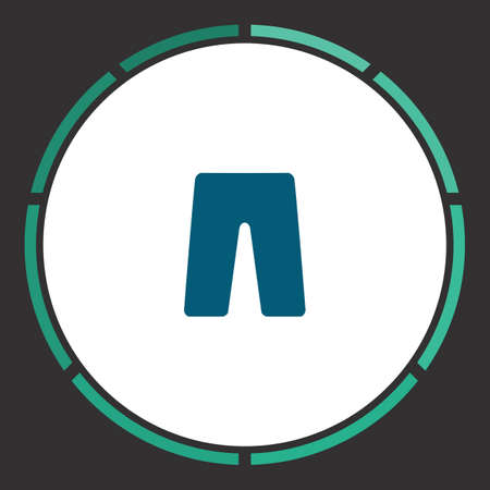 Pants Icon Vector. Flat simple Blue pictogram in a circle. Illustration symbol
