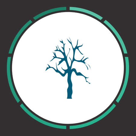 Tree Icon Vector. Flat simple Blue pictogram in a circle. Illustration symbol