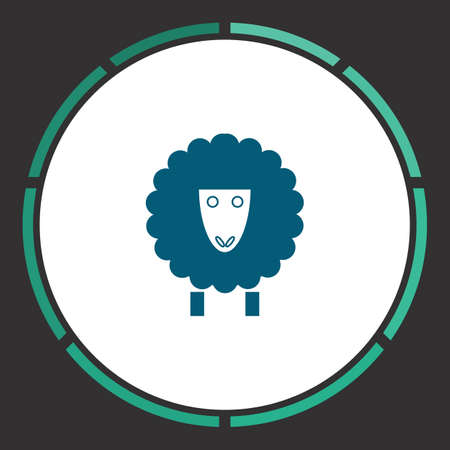 Lamb Icon Vector. Flat simple Blue pictogram in a circle. Illustration symbol
