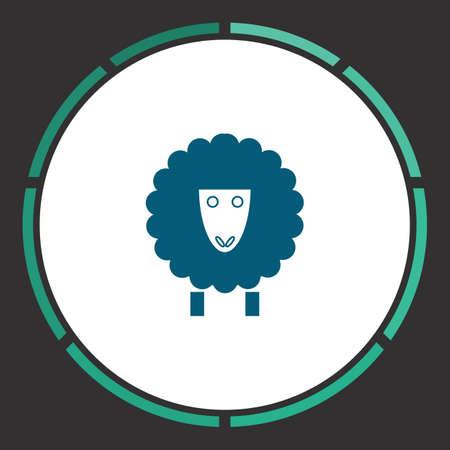 pasen schaap: Lamb Pictogram Vector. Vlak eenvoudig blauw pictogram in een cirkel. Illustratiesymbool Stock Illustratie