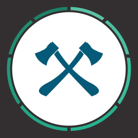 Axes crossed Icon Vector. Flat simple Blue pictogram in a circle. Illustration symbol Illustration