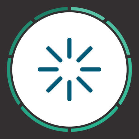 Buffering Icon Vector. Flat simple Blue pictogram in a circle. Illustration symbol