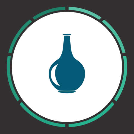 Pitcher Icon Vector. Flat simple Blue pictogram in a circle. Illustration symbol