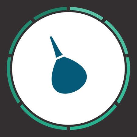 enema: Enema Icon Vector. Flat simple Blue pictogram in a circle. Illustration symbol