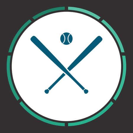 bunt: Baseball Icon Vector. Flat simple Blue pictogram in a circle. Illustration symbol Illustration