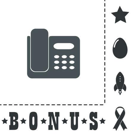 Fax machine. Simple flat symbol icon on white background. Vector illustration pictogram and bonus icons