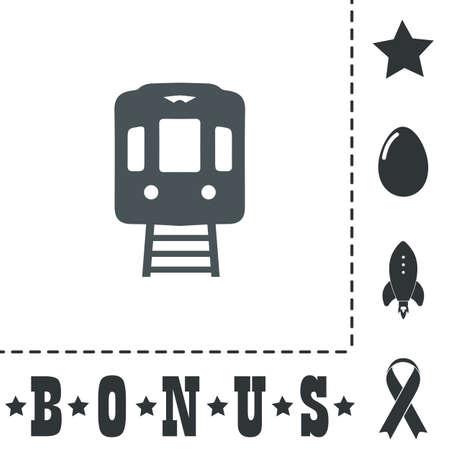 highspeed: Train subway. Simple flat symbol icon on white background. Vector illustration pictogram and bonus icons