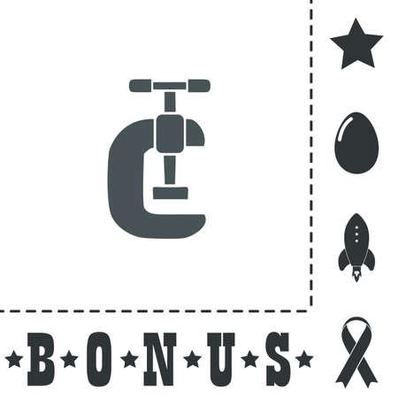 Press. Simple flat symbol icon on white background. Vector illustration pictogram and bonus icons Иллюстрация