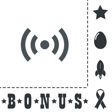 wireless lan: Flat Wi-Fi. Simple flat symbol icon on white background. Vector illustration pictogram and bonus icons