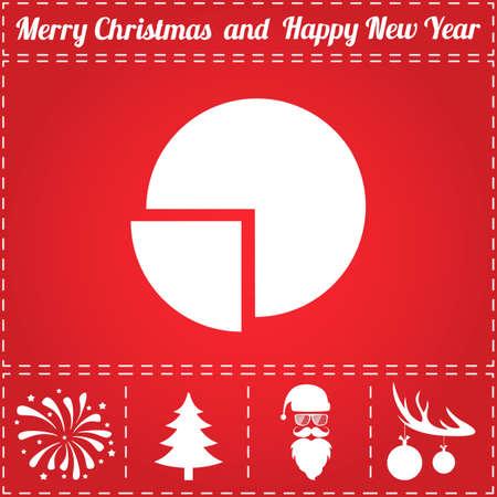 Diagram Pictogram Vector. En bonussymbool voor Nieuwjaar - Kerstman, kerstboom, vuurwerk, ballen op hertengeweien