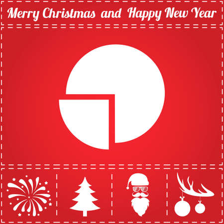 Diagram Icon Vector. And bonus symbol for New Year - Santa Claus, Christmas Tree, Firework, Balls on deer antlers