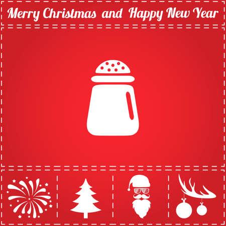 Salt Icon Vector And Bonus Symbol For New Year Santa Claus
