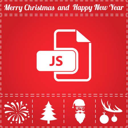크리스마스 테마 디자인의 JS 아이콘.